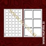 Pladen za kovance L, odprt, rdeč (1x)