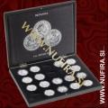 Škatla za 20x Britannia srebrnike v kaspulah, črna