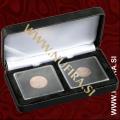 Etui za kovance NOBILE: 2x QUADRUM (50x50 mm), črn