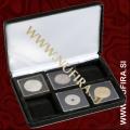Etui za kovance NOBILE: 6x QUADRUM (50x50 mm), črn
