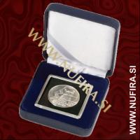 Etui za kovance NOBILE: QUADRUM (50x50 mm), moder