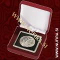 Etui za kovance NOBILE: QUADRUM (50x50 mm), rdeč