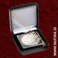 Etui za kovance NOBILE: QUADRUM (50x50 mm), črn