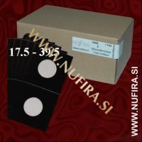 Samolepljivi kartončki za kovance (črni): Ø17.5 - Ø39.5 mm (100x)