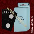 Samolepljivi kartončki za kovance (črni): Ø17.5 - Ø39.5 mm (25x)