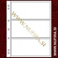 Listi NUMIS, 3 x predali za bankovce (3C), prozoren (10x)