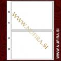 Listi NUMIS, 2 x predal za bankovce in kartice (2C), prozoren (10x)