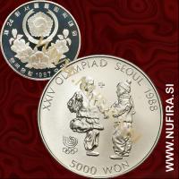 1987 Južna Koreja, Seoul 1988, Jegichagi, 5000 Won