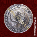 1991 Avstralija, Kookaburra, 1 AUD, 1oz