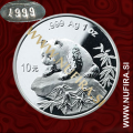 1999 Kitajska, Panda (majhna letnica), 10 Yuan, 1oz