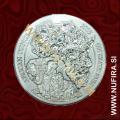 2009 Ruanda, Sloni, 50 RWF, 1oz