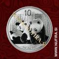 2010 Kitajska, Panda, 10 Yuan, 1oz