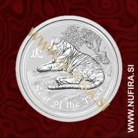 2010 Avstralija, Lunar 2, Tiger, 0.5 AUD, 1/2 oz