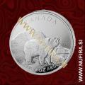 2011 Kanada, Medved, 5 CAD, 1oz
