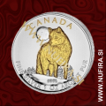 2011 Kanada, Volk (pozlačen), 5 CAD, 1oz