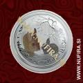 2011 Avstralija, Lunar 2, Zajec (barvni), 8 AUD, 5 oz
