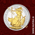 2012 Velika Britanija, Britannia (pozlačen), 2 GBP, 1oz