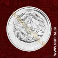 2012 Avstralija, Lunar 2, Zmaj, 0,50 AUD, 1/2 oz