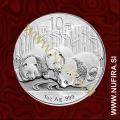 2013 Kitajska, Panda, 10 Yuan, 1oz