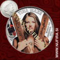 2013 Tina Maze, Cookovi otoki (barvni), 5 DOLLARS, 1oz