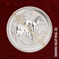 2014 Avstralija, Lunar 2, Konj, 0.5 AUD, 1/2 oz