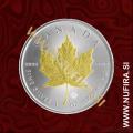 2017 Kanada, Javorjev list (pozlačen), 5 CAD, 1oz