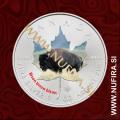 2014 Kanada, Javorjev list (06/10 Bizon, barvni), 5 CAD, 1oz