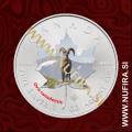 2014 Kanada, Javorjev list (08/10 Debeloroga ovca, barvni), 5 CAD, 1oz
