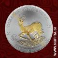2015 Gabon, Springbok (Pozlačen), 1000 FRANCS CFA, 1oz