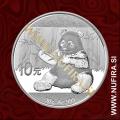 2017 Kitajska, Panda, 10 Yuan (30 g)