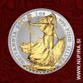 2017 Anglija, Britannia (pozlačen), 2 GBP, 1oz