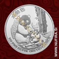 2017 Niue, Panda, 2 Dollars, 1oz
