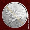 2018 Kanada, Predatorji, Volk, 5 CAD, 1oz