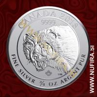 2018 Kanada, Predatorji, Wolverine, 2 CAD, 3/4oz