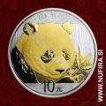 2018 Kitajska, Panda (pozlačen), 10 Yuan (30 g)