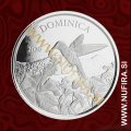 2020 ECCB, Dominica, Hummingbird, 2 XCD, 1oz