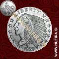 Amerika, Liberty (Indijanec, Orel), 1oz