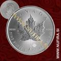 2018 Kanada (Javorjev list), 5 CAD, 1oz