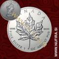 1989 Kanada, Javorjev list, 5 CAD, 1oz