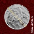 2018 Niue, Želva, 2 Dollars, 1oz