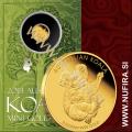 2013 Avstralija, Koala, 2 AUD, 0.5 g, zlato