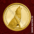 2013 Mongolija, Volk, 500 Togrog, 0.5 g, zlato