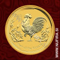 2017 Avstralija, Lunar 2, Petelin, 5 AUD, 1/20 oz, zlato