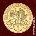 2017 Avstrija, Dunajski Filharmonik, 4 EUR, 1/25 oz, zlato